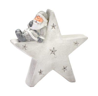 Deko-Figur in winterlichem Stern-Design, ca. 42x14x41cm