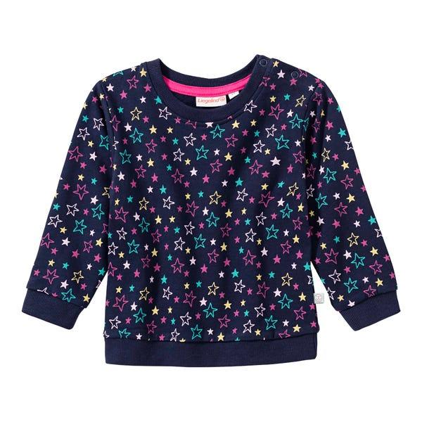 Baby-Mädchen-Sweatshirt mit Sternenmuster