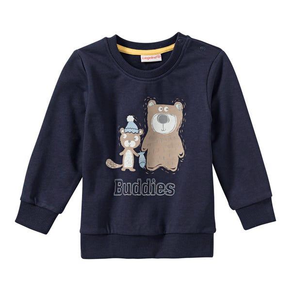 Baby-Jungen-Sweatshirt mit Bären-Frontaufdruck
