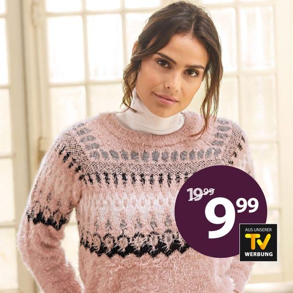 Damen-Pullover mit Norweger-Design
