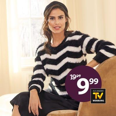 Damen-Pullover mit Zickzack-Muster
