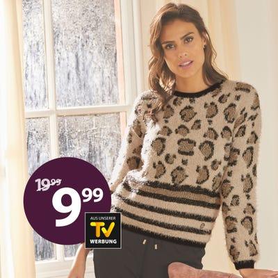 Damen-Pullover mit Leoparden-Design