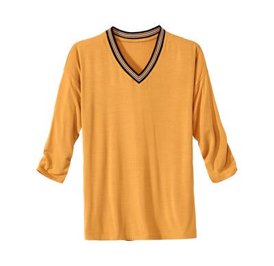 Damen-Shirt mit markantem V-Ausschnitt