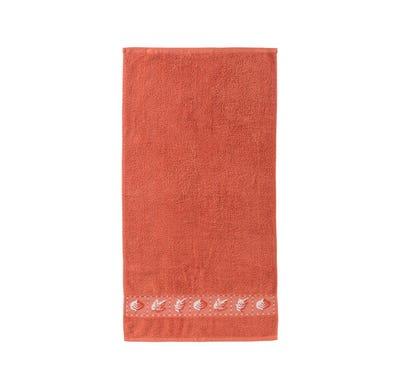 Handtuch mit Blätter-Bordüre, 50x100cm