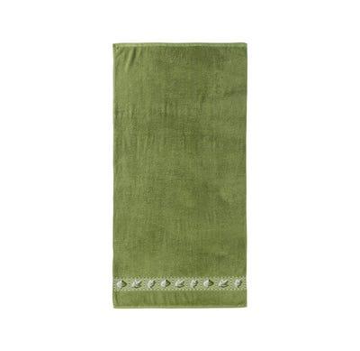 Duschtuch mit Blätter-Bordüre, 70x140cm