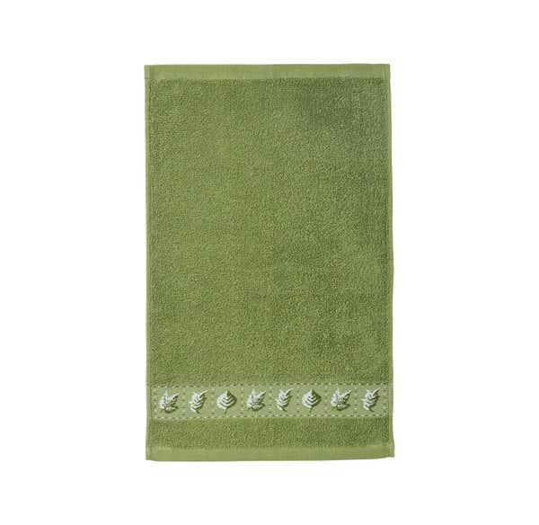 Gästetuch mit Blätter-Bordüre, 30x50cm