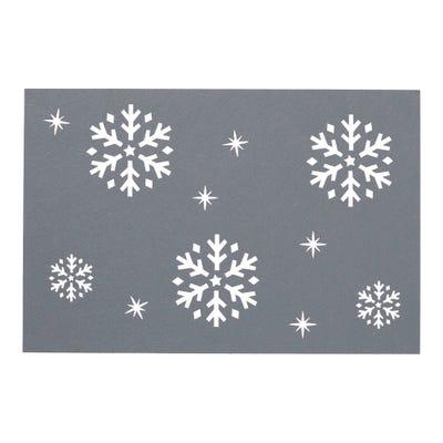 Platz-Set mit Schneeflocken-Design, 30x45cm