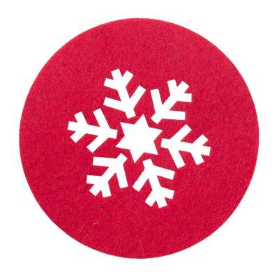 Untersetzer mit traumhafter Schneeflocke, Ø ca. 12cm, 4er Pack