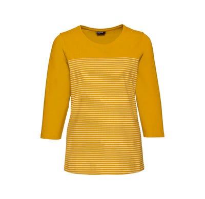 Damen-Shirt mit geringeltem Einsatz