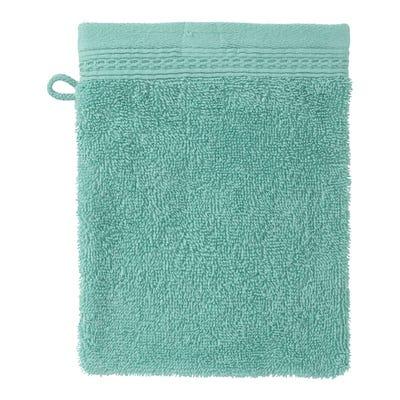 Waschhandschuh mit Waffelbordüre, 16x21cm