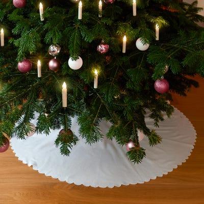Christbaum-Decke mit Bindebändern, ca. 110cm