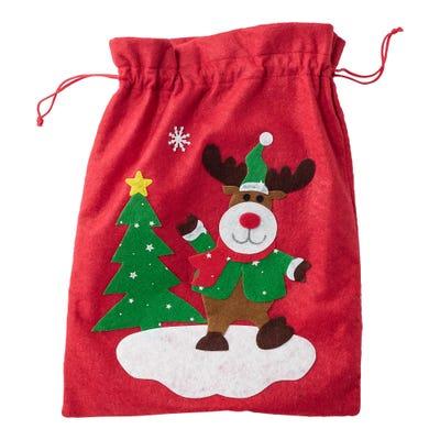 Filzbeutel mit tollem Weihnachtsmotiv, ca. 30x40cm