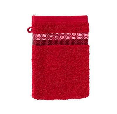 Waschhandschuh mit eleganter Bordüre, 16x21cm
