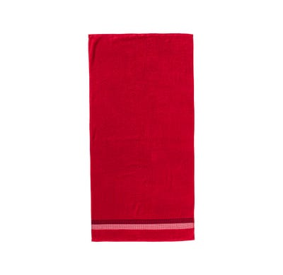 Duschtuch mit eleganter Bordüre, 70x140cm