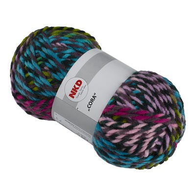Handstrickgarn mit trendigem Farbdesign, 100g