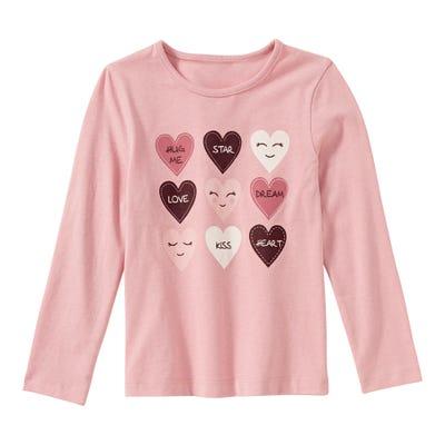 Mädchen-Shirt mit süßen Herzen