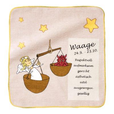 Magisches Handtuch in verschiedenen Sternzeichen-Designs, ca. 29x29cm