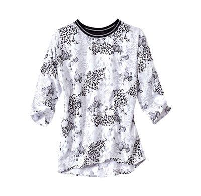 Damen-Bluse mit aufregendem Tier-Print