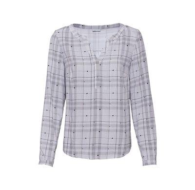 Damen-Bluse mit schickem Karomuster