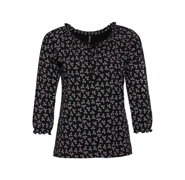 Damen-Shirt mit kleinen Rüschen