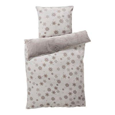 Flanell-Fleece-Bettwäsche mit Winter-Muster