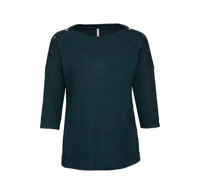 Damen-Sweatshirt mit Zierknöpfen