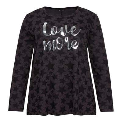 Damen-Sweatshirt mit Sternenmuster, große Größen