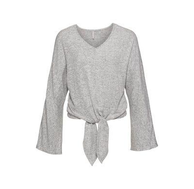 Damen-Sweatshirt mit trendigem Knoten