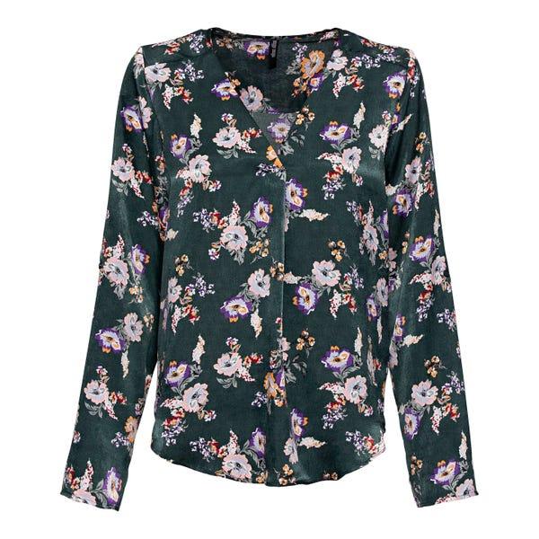 Damen-Bluse mit Blumenmuster