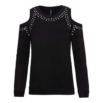 Damen-Sweatshirt mit offener Schulter