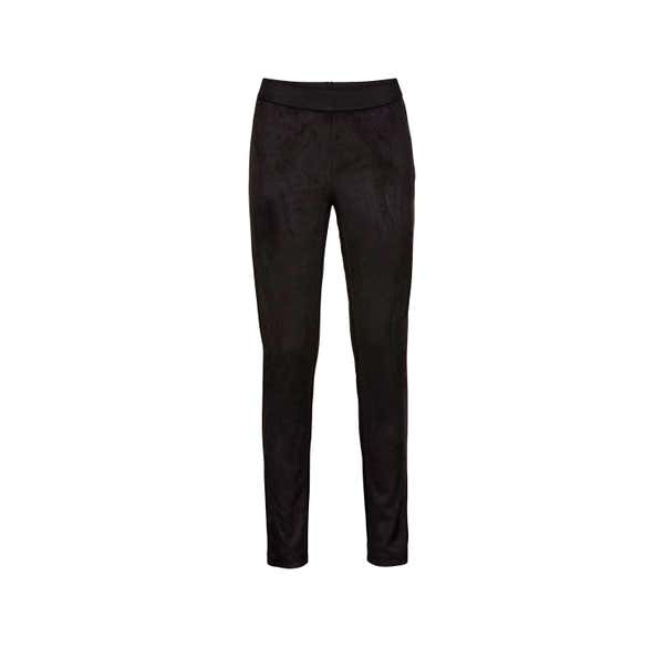 Damen-Leggings in Wildleder-Optik