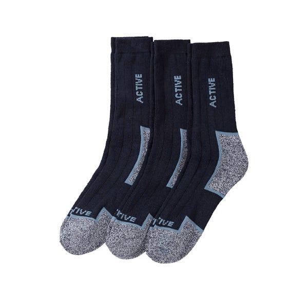 Herren-Outdoor-Socken, 3er Pack