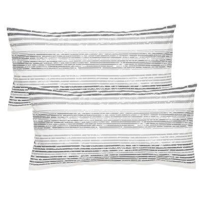 Biber-Kissenbezug aus reiner Baumwolle, ca. 40x80cm, 2er Pack