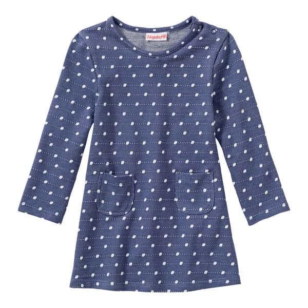 Baby-Mädchen-Kleid mit Punkte-Muster