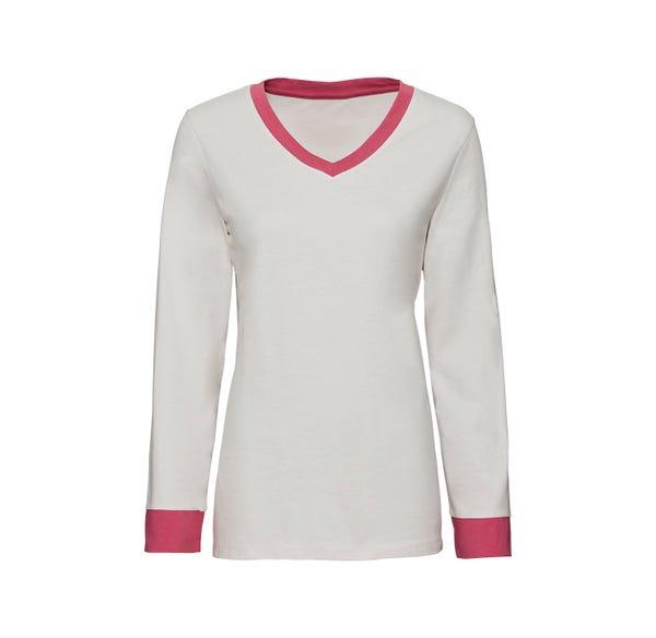 Damen-Schlafshirt mit Kontrast-Effekten, Mix&Match