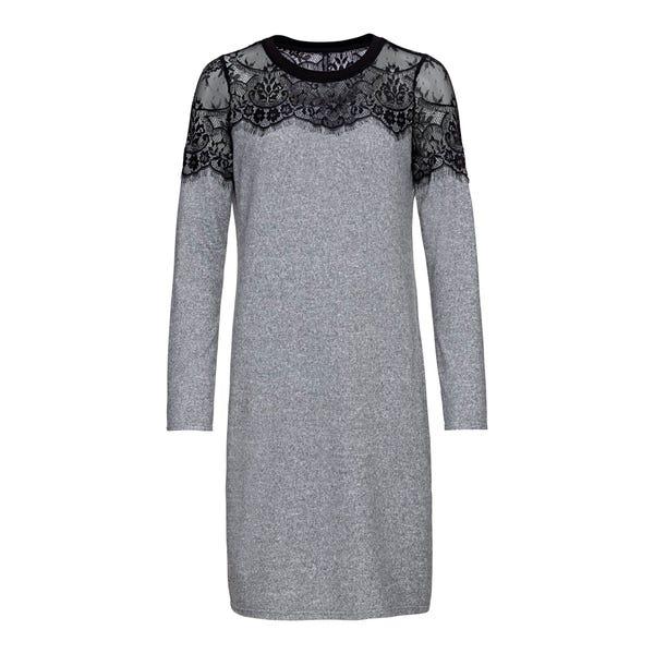 Damen-Kleid mit Spitzenbesatz
