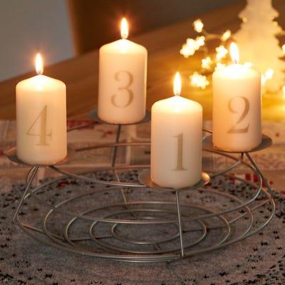 Kerzenset für den Advent, ca. 6x10cm, 4-teilig