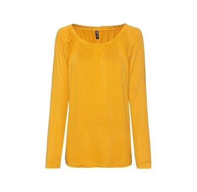 Damen-Shirt mit elastischem Carmen-Ausschnitt