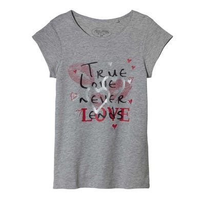Damen-T-Shirt mit verschiedenen Aufdrucken