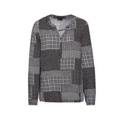 Damen-Bluse mit Patchwork-Muster