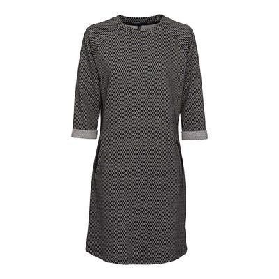 Damen-Kleid mit schickem Struktur-Muster
