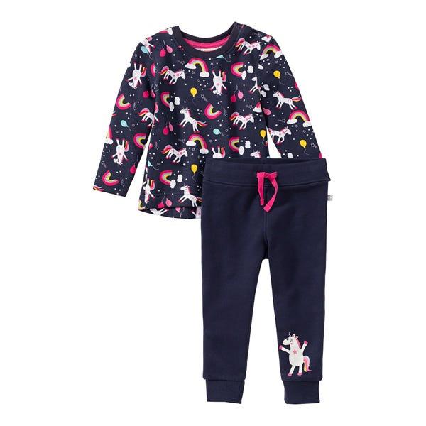 Baby-Mädchen-Set mit Fantasie-Muster, 2-teilig