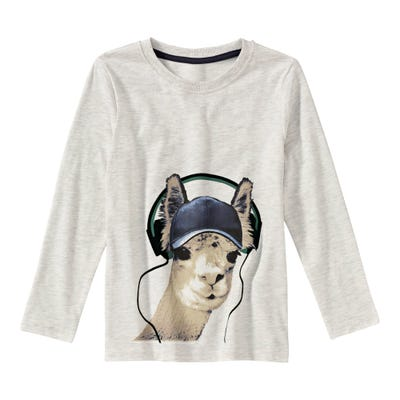 Jungen-Shirt mit Kamel-Frontaufdruck