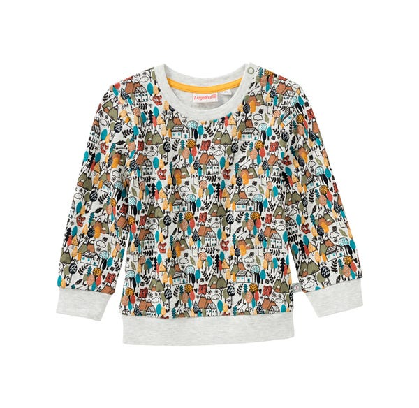 Baby-Jungen-Sweatshirt mit Stadt-Muster
