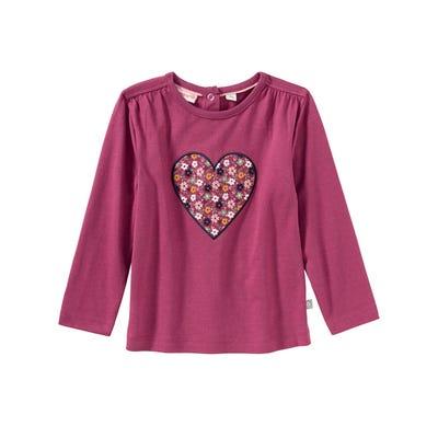Baby-Mädchen-Shirt mit Herz-Applikation