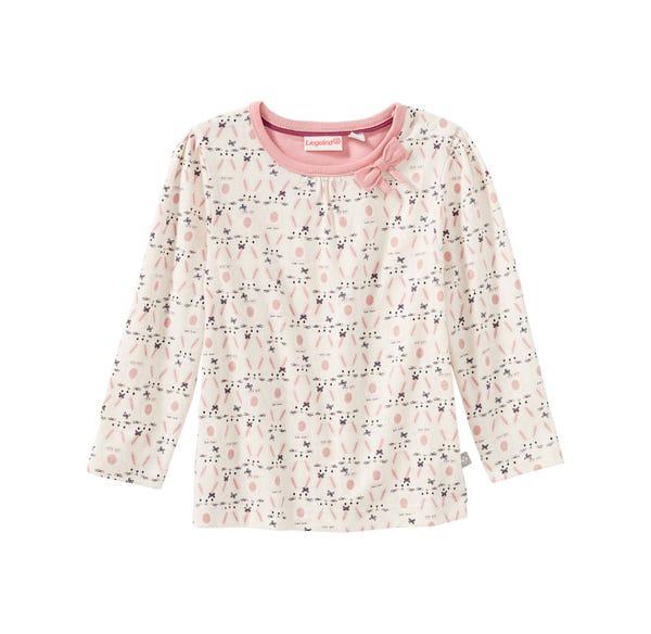 Baby-Mädchen-Shirt mit Hasen-Muster
