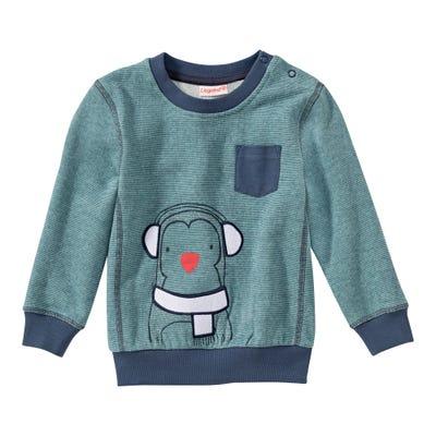 Baby-Jungen-Sweatshirt mit Pinguin-Frontaufdruck
