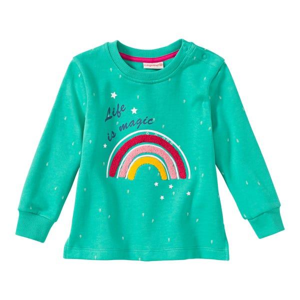 Baby-Mädchen-Sweatshirt mit Regenbogen-Applikation