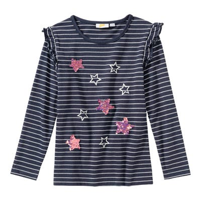 Mädchen-Shirt mit Sternen-Applikationen