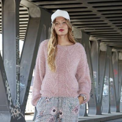 Damen-Pullover mit weichem Garn-Effekt